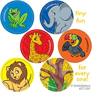 SmileMakers Jungle Friends Mini Dot Stickers - Prizes 100 per Pack