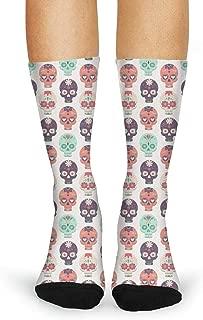 Design Skulls Halloween Fun Pattern Fashion Women's Sporty Custom socks