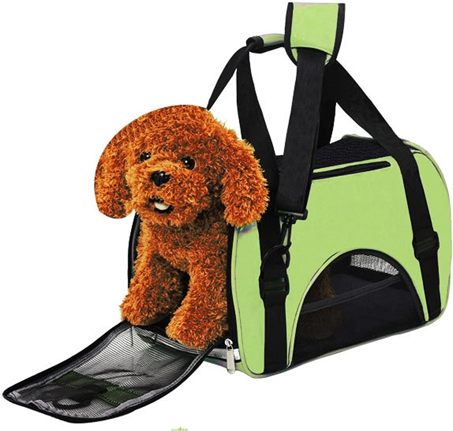HHF Pet Supplies Pet Waterproof Portable Handbag Shoulder Bag for Cat Dog and oher Pets, Small Size 40  30  20cm (color   Green)