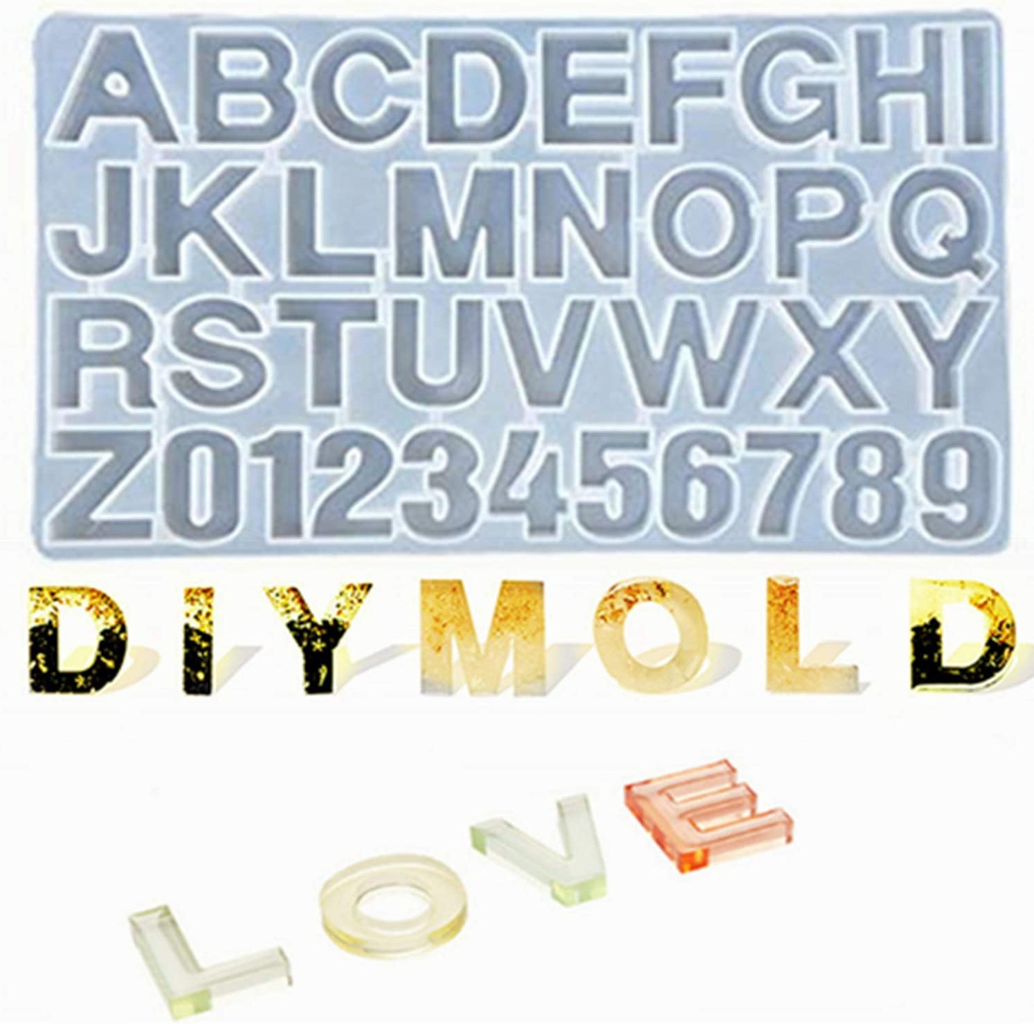 DIY Casting Mold Alphabet Cheap mail order sales Number Jewelry Product Making Letter S