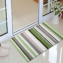 Floor Mats Home Vacuuming Bedroom Kitchen Foyer Tall Woolen Pad Non-Slip Door Mat (Color : Stripe 3, Size : 50 * 80CM)