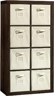 Sauder 421547 Stow-Away 8-Cube Organizer, Smoked Oak Finish