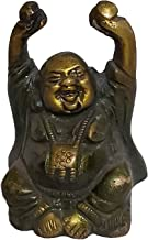 PARIJAT HANDICRAFT Laughing Buddha Statue in Solid Brass Metal: Harbinger of Wisdom and Wealth - Use as Home Decor Showpie...