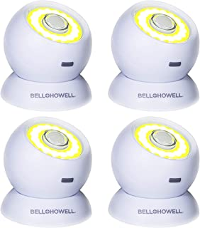 Bell and Howell Bionic Light Motion-Sensing, Portable, Powerful, Bright COB LED Lights As Seen On TV (Set of 4)