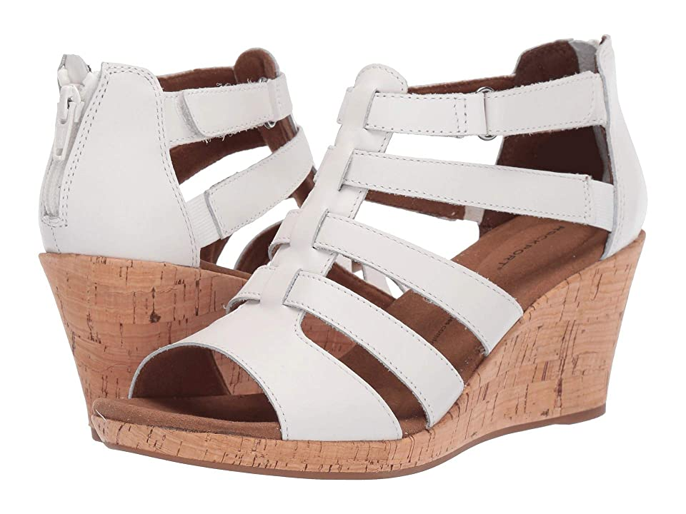 Rockport Briah Gladiator (White Leather) Women