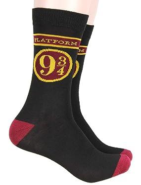 Harry Potter Platform 9 3/4 Hogwarts Express Adult Crew Socks