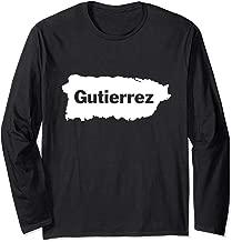Gutierrez Last Name, Camisas de Puerto Rico Long Sleeve T-Shirt