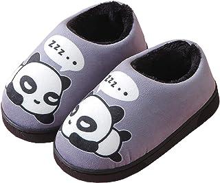 Zapatillas de Estar por Casa para Niñas Niños Otoño Invierno Zapatillas Mujer Hombres Interior Caliente Suave Dibujos Anim...