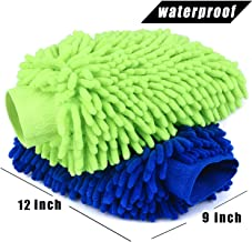 ZRZ Car Wash Mitt 2 Pack - 12 X 9 Inch Extra Large Size Clean Tools Kits- Premium Chenille Microfiber Winter Waterproof Cl...