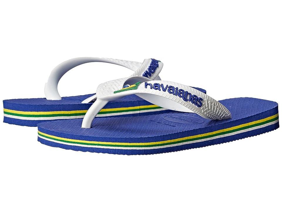 Havaianas Kids Brazil Logo Flip Flops (Toddler/Little Kid/Big Kid) (Marine Blue) Kid