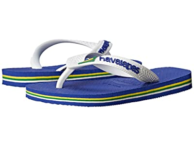 Havaianas Kids Brazil Logo Flip Flops (Toddler/Little Kid/Big Kid) (Marine Blue) Kid