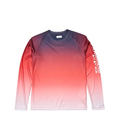 Columbia Super Tidal Tee Long Sleeve Shirt (Red Lily Gradient) Women