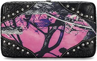 Moonshine Muddy Girl Western Womens Camo Camouflage Western Flat Wallet