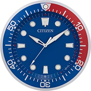 Citizen Clocks Citizen CC2062 Gallery Wall Clock, Red and Navy Blue