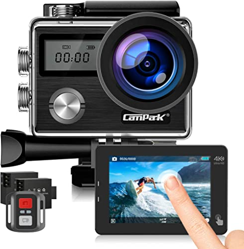 Campark Action Cam HD 20MP 4K WiFi Action Camera Touch Screen Macchina Fotografica Subacquea 40M con Custodia Imperme...