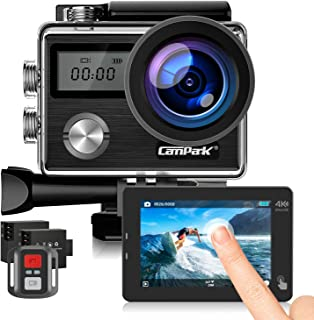 Campark Action Cam HD 20MP 4K WiFi Action Camera Touch Screen Macchina Fotografica Subacquea 40M con Custodia Impermeabile...
