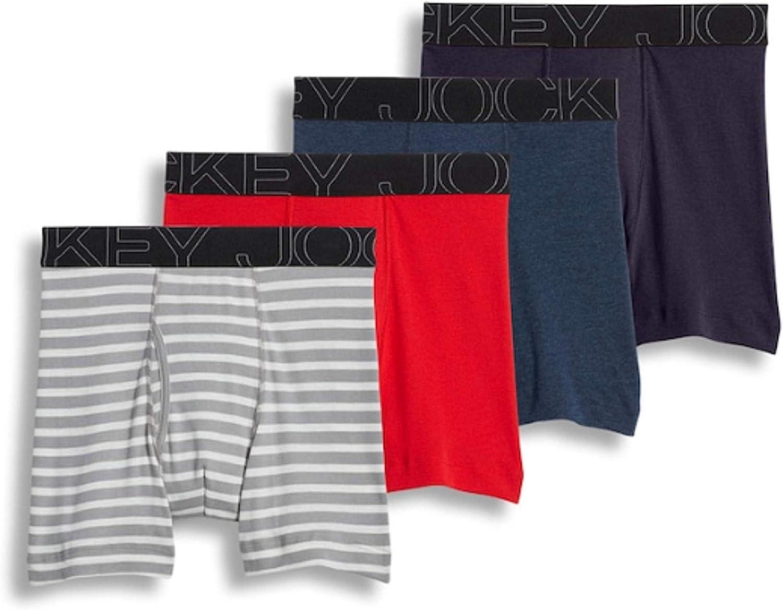 Jockey Men's Underwear ActiveBlend Midway Brief - 4 Pack