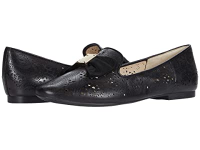 Cole Haan Tali Soft Bow Loafer (Black Leather/Tonal Grossgrain Bow/Black Stack) Women