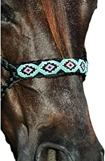 Professional`S Choice Cowboy Braided Black Halter and Lead