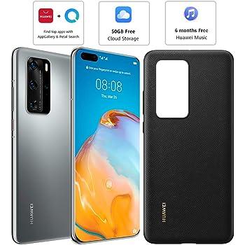 Huawei P40 Pro (5G) ELS-NX9 Dual/Hybrid-SIM 256GB (GSM Only | No CDMA) Factory Unlocked Smartphone (Silver Frost) - International Version