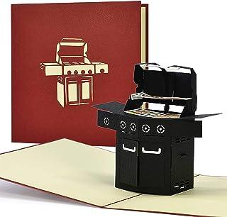 Grillgutschein, Geschenkgutschein, 3D Geburtstagskarte Grill