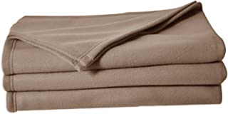 POYET MOTTE POLECO Couverture polaire Polyester Taupe 220 x 240 cm