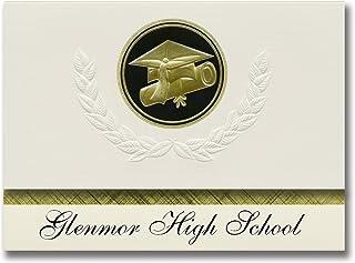 Annonces de signature Glenmor High School (Caledonia, MI) Annonces de diplôme, Style présidentiel, Paquet Elite de 25 Scea...