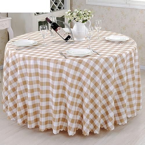 DE European Style karo Hotel tischtuch,Fabric Fashion Tea Tisch Cloth tischtuch-B Durchmesser280cm(110inch)