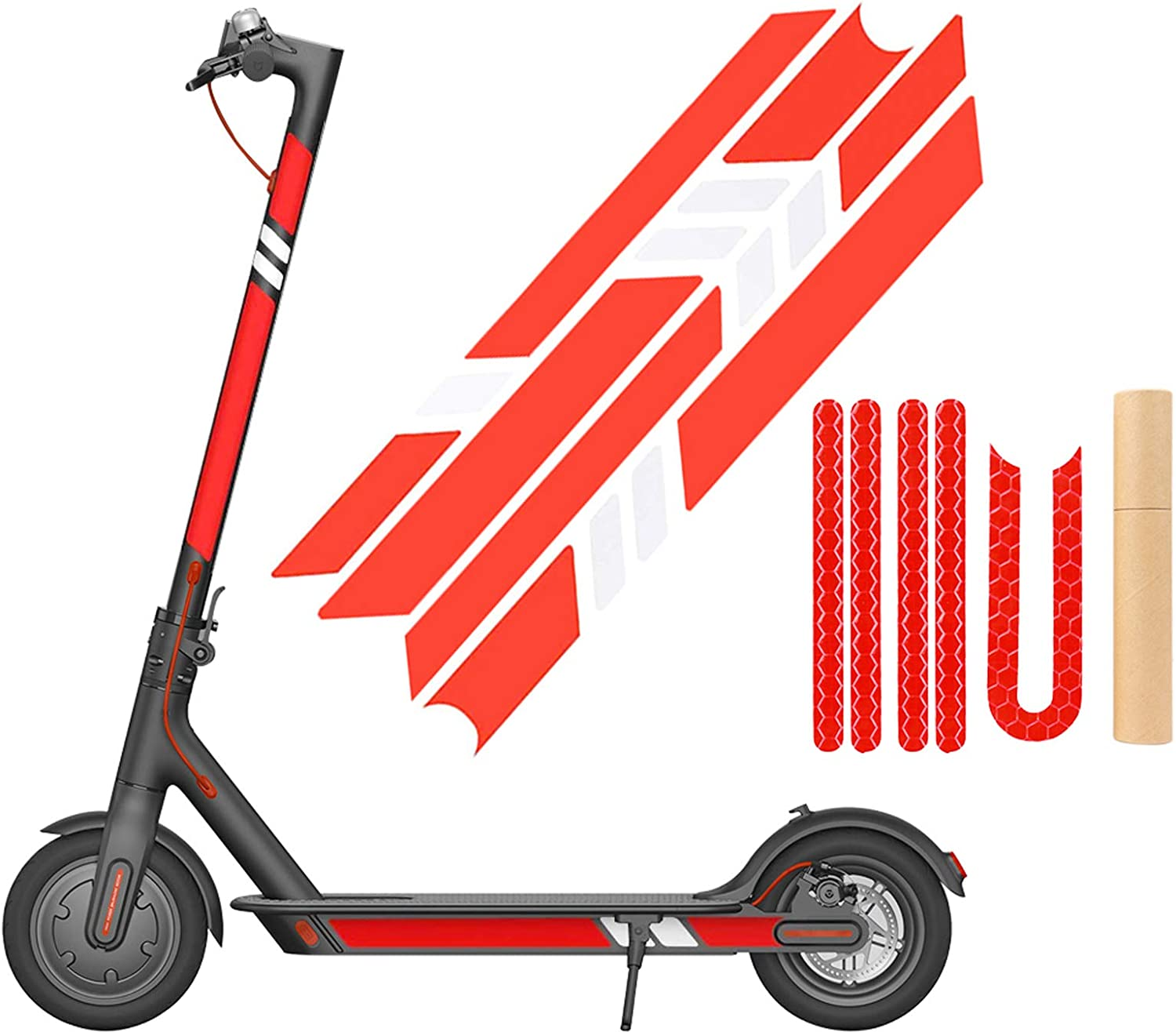 SGMY Scooter Reflective Sticker Waterproof Reflective Decals Decorative For Xiaomi Mijia M365 E-Scooter and Ninebot Es1 Es2 Es4 Electric Scooter Accessories
