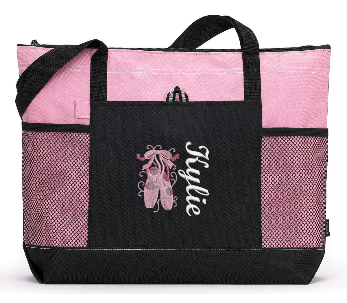 Personalized Outlet SALE store Dance Ballet Embroidered Bag Tote Zippered