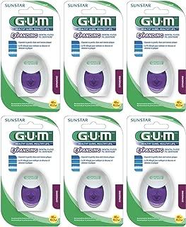 GUM Expanding Dental Floss 2030-40m - 43.3 Yd (Pack of 6) Total of 240m or 259.8 Yds - Sealed Manufacturer Case Pack