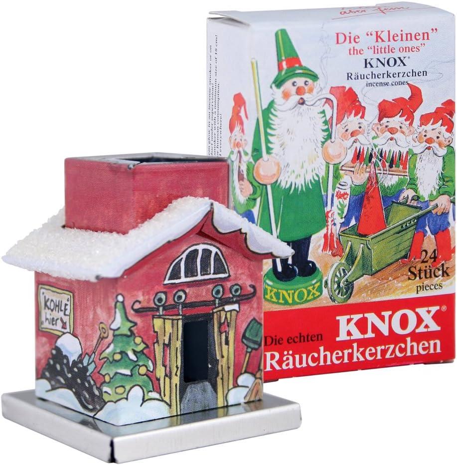 Knox The Little One Räucherhaus Bahnhof Mini Räucherkerzen Bunte Mischung Küche Haushalt