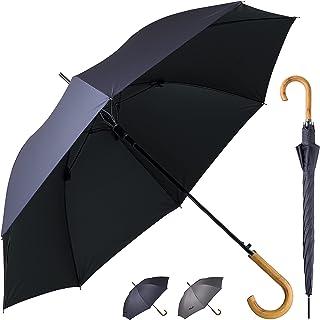 日傘 男性用 晴雨兼用 メンズ 長傘 熱中症対策傘 完全遮光 100 UVカット 99.9% 遮熱効果 大きい 130cm 軽量仕様 ジャンプ傘 206H