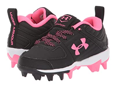 Under Armour Kids Leadoff Low RM Baseball (Toddler/Little Kid/Big Kid) (Black/Cerise) Kids Shoes