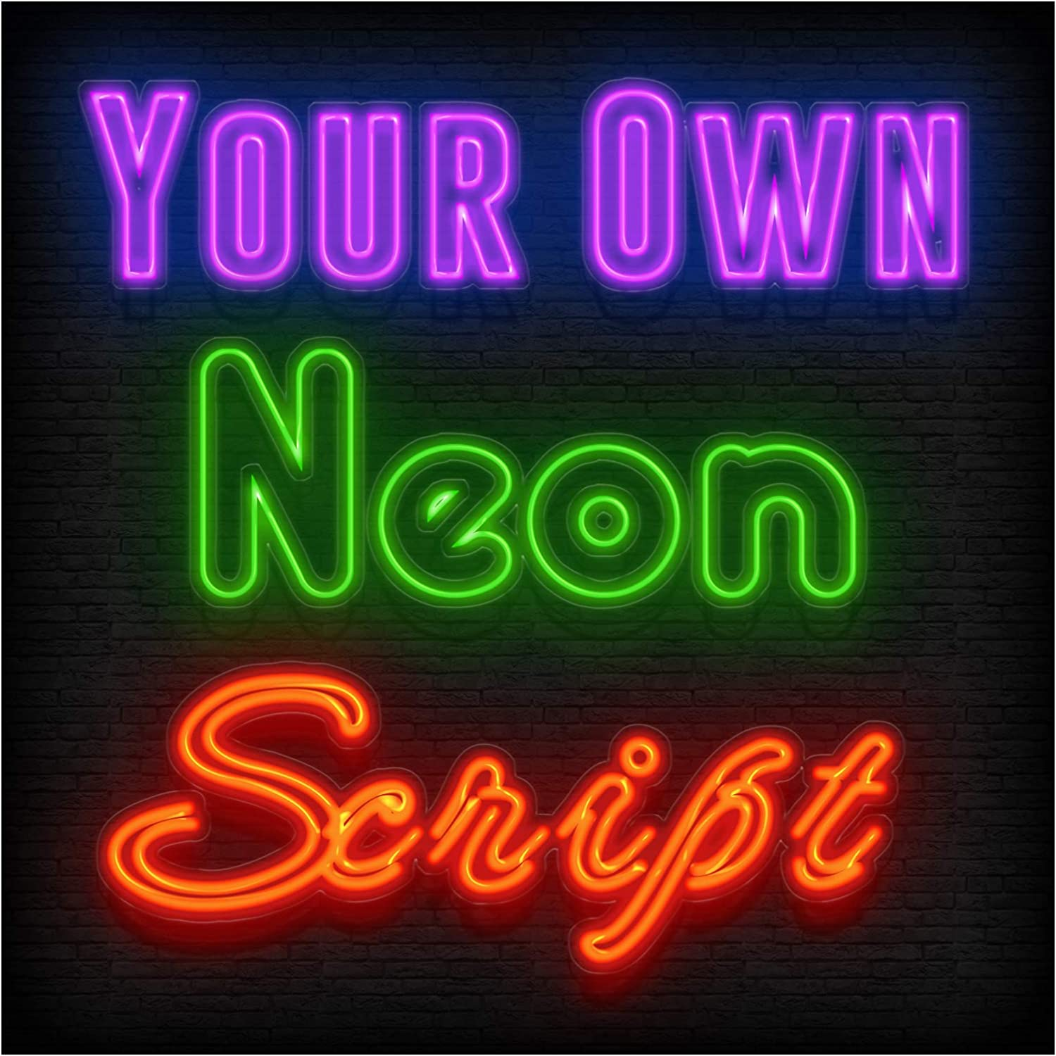 Cheap sale Custom Neon Signs Hollow Long-awaited Led Double Personalized