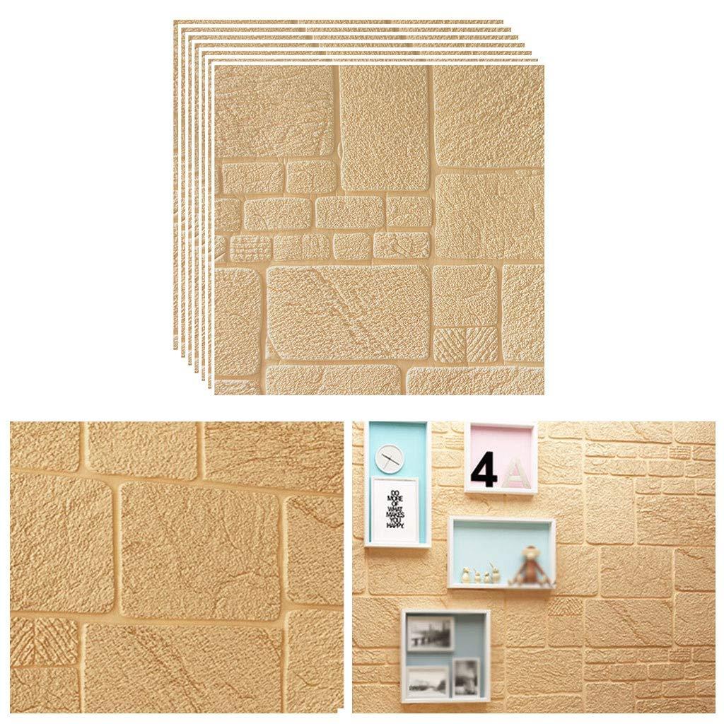 Amazon Co Jp 枚 3d壁紙 レンガ調 Diyシール 立体 壁用 レンガ 貼るだけ レンガシート 壁材 レンガ調 発泡スチロール リアル 風レンガ クッションレンガ 壁用 レンガタイル リメイクシート 69cmx69cm ホーム キッチン