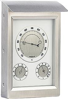 infactory Wetterstation analog: Außenwetterstation mit Hygro  und Barometeranzeige (Thermometer analog)