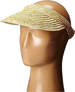 San Diego Hat Company - WSV0004 4 Inch Brim Straw Slip-On Visor
