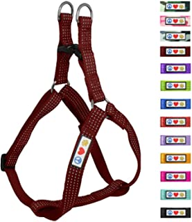 Pawtitas Pet Reflective Step in Dog Harness Reflective Vest Harness Comfort Control Training Walking Your Puppy Harness/Dog Harness