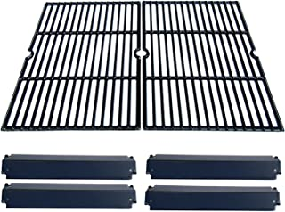 Direct Store Parts Kit DG232 Replacement Charbroil, Kenmore, Coleman,Gas Grill Repair Kit Heat Plates & Cooking Grill (Porcelain Steel Heat Plate + Porcelain Cast Iron Cooking Grid)