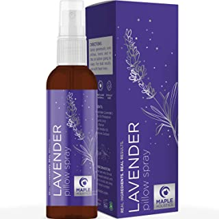 Sleep Aromatherapy Lavender Oil Spray - Lavender Essential Oil Spray and Bed Linen Spray for Sheets - Non Staining Chamomi...