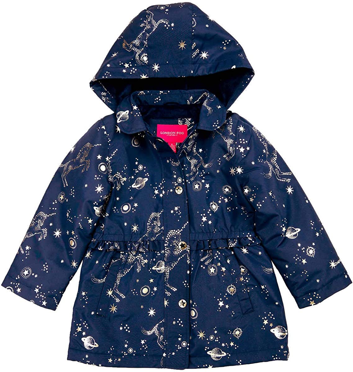 LONDON FOG Girls Midweight Multi Quilted Barn Jacket