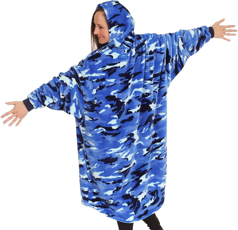 Blue Camo tanque de tibur/ón Manta de microfibra ligera de gran tama/ño talla /única The Comfy Dream