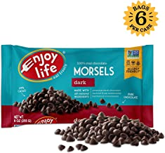 Enjoy Life Dark Chocolate Morsels, Dairy Free, Vegan Chocolate Chips, 9 Ounce (Pack of 6)