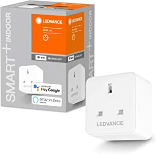 LEDVANCE Smart switchable Plug with WiFi Technology for UK sockets, with Current Measurement, controllable with Google and...