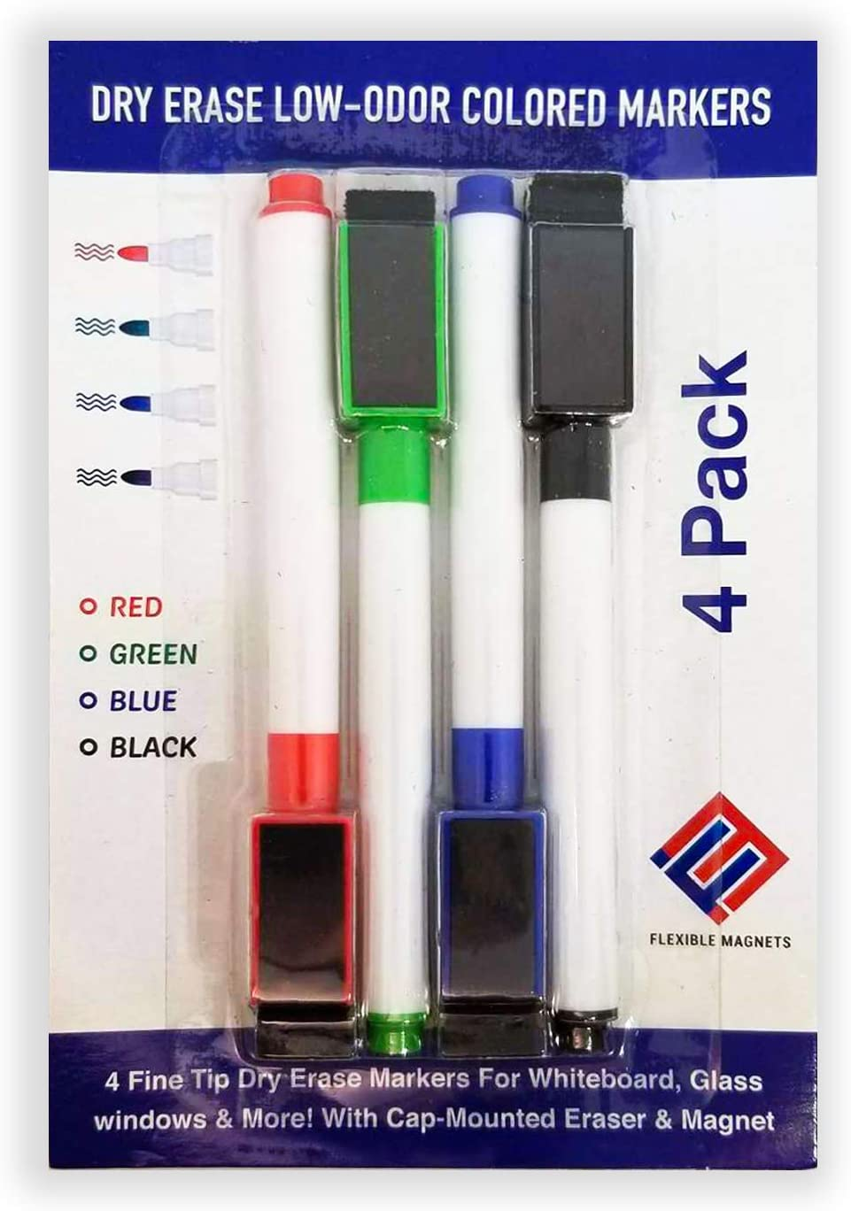 Dry Erase Low-Odor Colored Nippon regular agency Markers For Glass Whiteboard windows Max 53% OFF