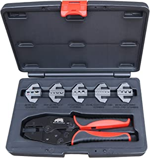 Rhino Tools - Juego de crimpadora para cables (5 unidades, cambio rápido)