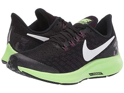 Nike Kids Air Zoom Pegasus 35 (Little Kid/Big Kid) (Black/White/Burgundy/Ash/Lime Blast) Boys Shoes