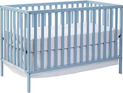 Suite Bebe Palmer 3 in 1 Convertible Crib Baby Blue - Quick Ship