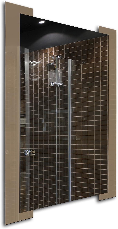 Glass Frame Bathroom Modern Rectangle Wall Accent Mirror